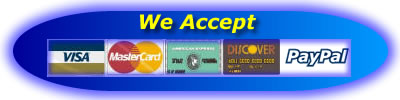 We Accept Visa/MC/Amex/Discover/PayPal